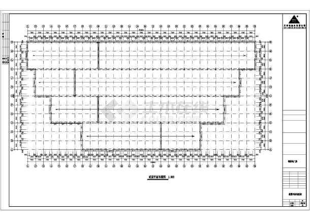 某厂房工程建筑结构CAD图-图3