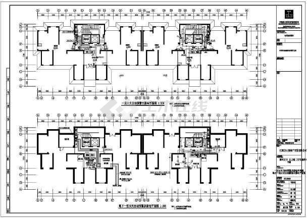 [江西]31层高层住宅单体楼电气施工图-图1