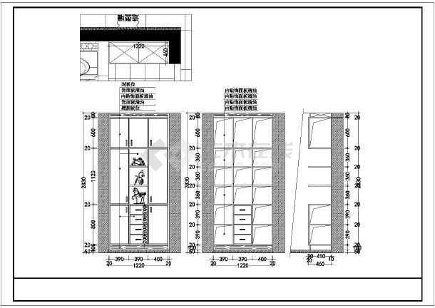锦苑春天住宅全套装修设计施工图-图1