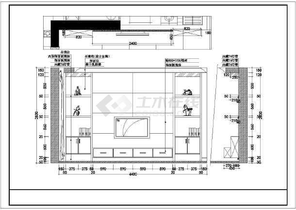锦苑春天住宅全套装修设计施工图-图3