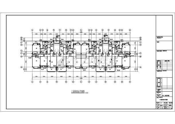 安徽六层住宅楼加跃层建筑给排水图纸-图1