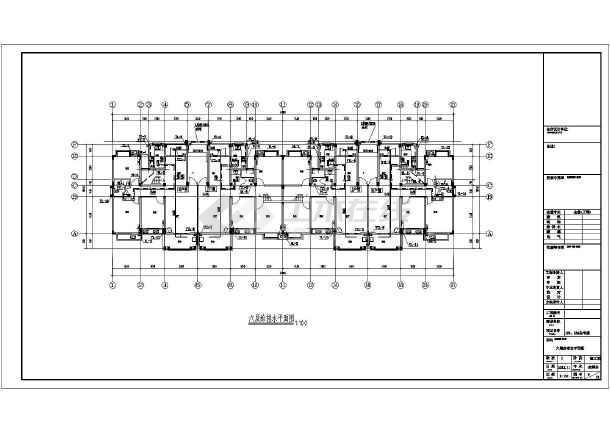 安徽六层住宅楼加跃层建筑给排水图纸-图3
