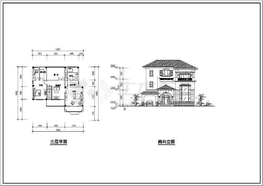 简约时尚的别墅建筑方案图   -图1