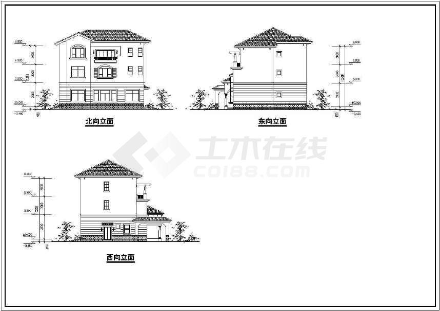 简约时尚的别墅建筑方案图   -图2