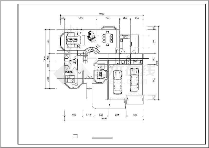 某地生态休闲别墅建筑设计图-图1