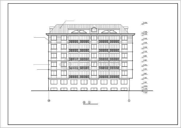 某市多层住宅楼设计cad建施图-图1