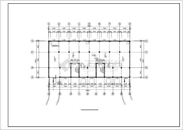 某市多层住宅楼设计cad建施图-图3