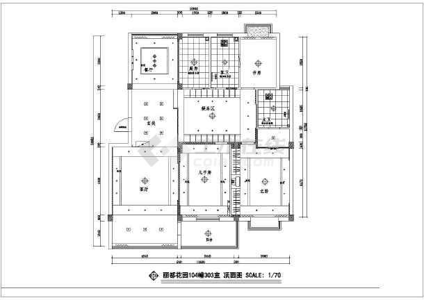 某丽都花园设计CAD建筑施工图-图1