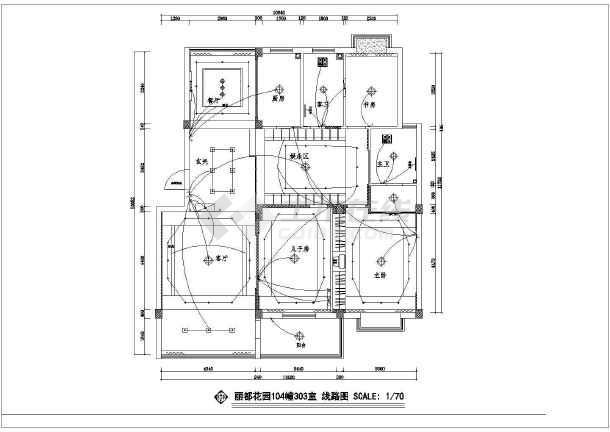 某丽都花园设计CAD建筑施工图-图2