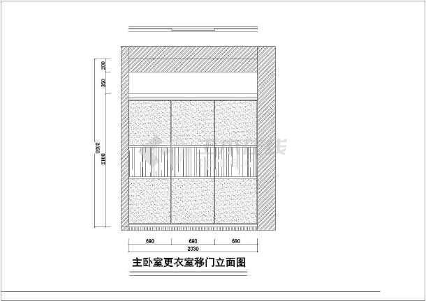 某丽都花园设计CAD建筑施工图-图3