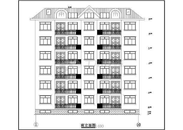 某城市住宅建筑设计cad方案图-图1