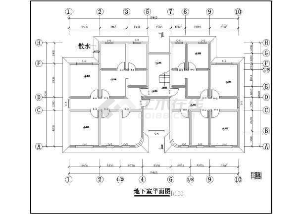 某城市住宅建筑设计cad方案图-图3