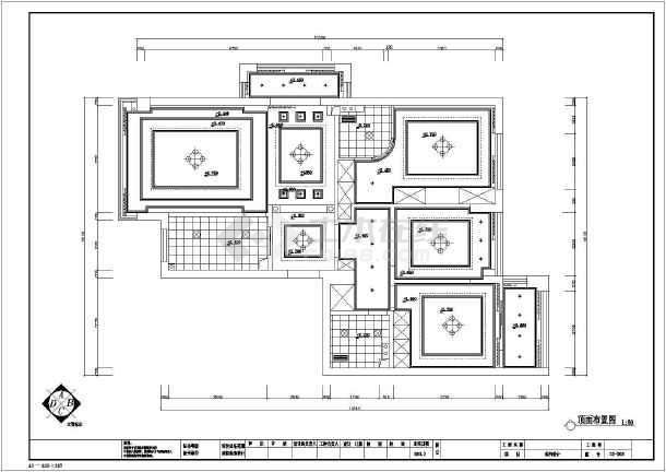 简欧三室住宅装修设计施工图-图1