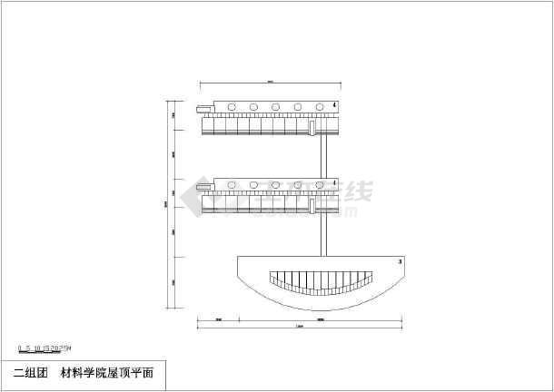 某地材料学院建筑设计方案图(共5张)-图2