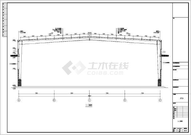 某公司钢结构厂房CAD图(含设计说明)-图3
