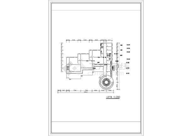 某地幼儿园建筑设计图纸(共3张)-图2