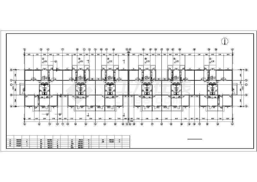 简单精致的住宅楼建筑施工图-图1