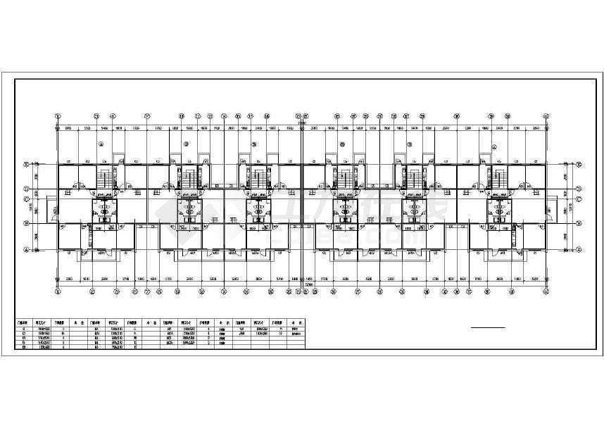 简单精致的住宅楼建筑施工图-图3