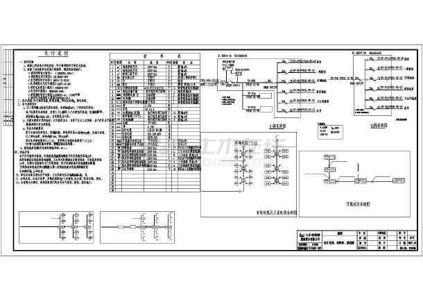 某地别墅电气设计方案设计全图-图1