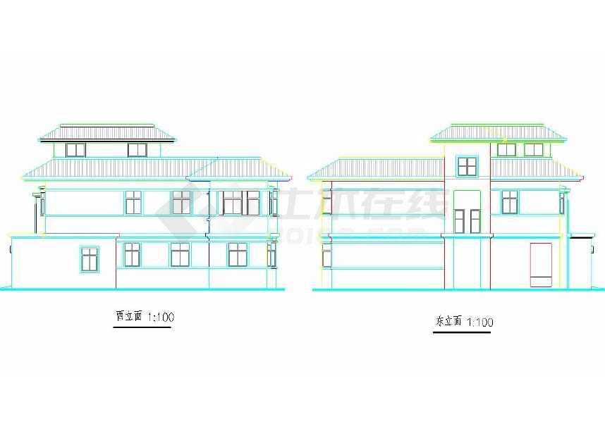 某地小型别墅建筑方案设计图-图2