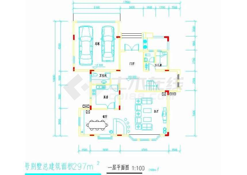 某地小型别墅建筑方案设计图-图3