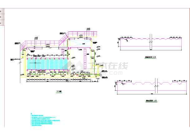 某生活污水处理站工程全套工艺图-图2