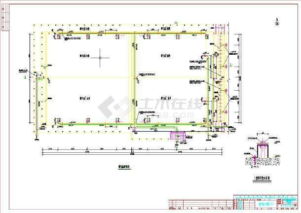 某生活污水处理站工程全套工艺图-图3