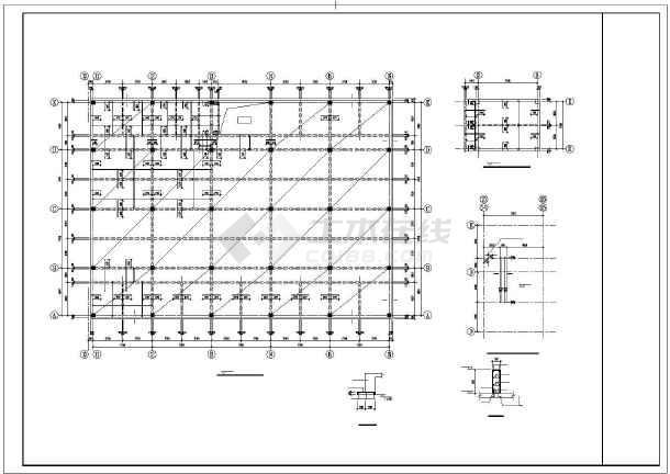 某框架宿舍结构设计图-图1