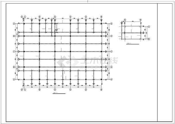 某框架宿舍结构设计图-图3