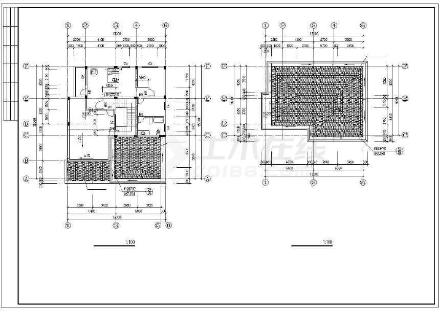 简单的欧式别墅建筑施工图-图1