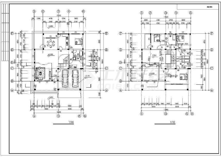 简单的欧式别墅建筑施工图-图3