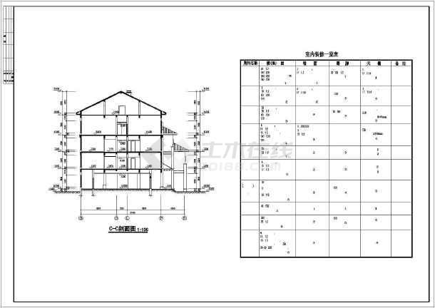 某市高档宾馆建筑结构cad设计施工图-图1