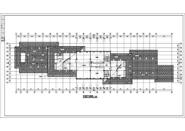 某市高档宾馆建筑结构cad设计施工图-图3
