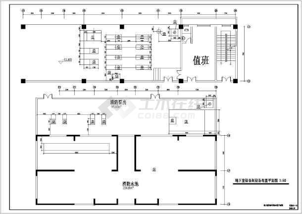 某高层住宅楼采暖防排烟图纸-图1