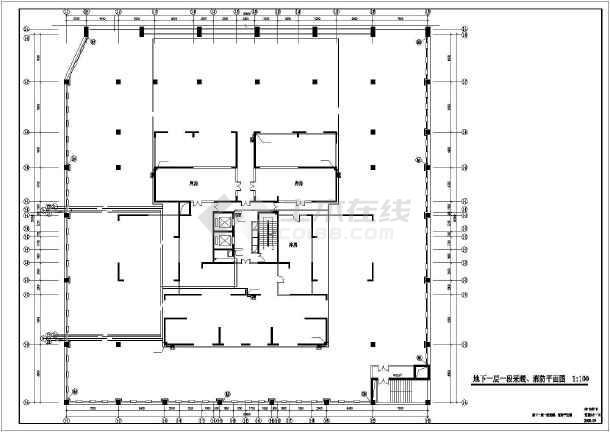 某高层住宅楼采暖防排烟图纸-图2