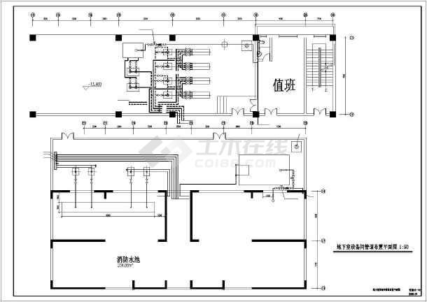 某高层住宅楼采暖防排烟图纸-图3
