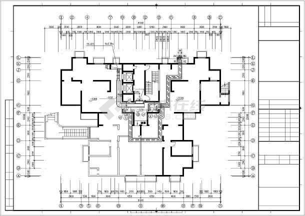 某十九层住宅楼采暖通风图纸-图1