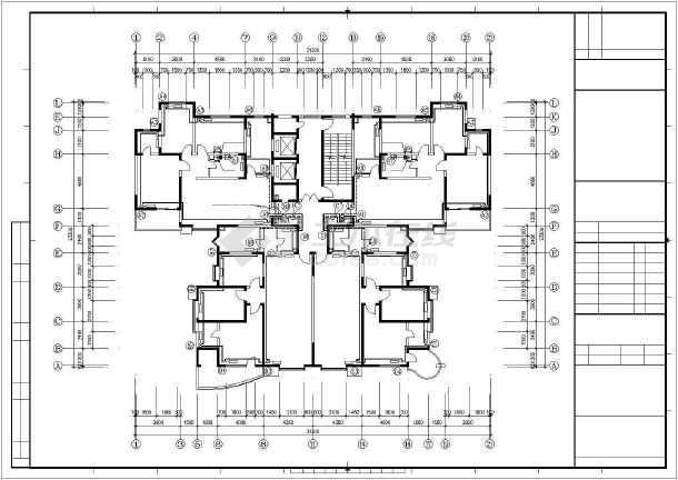 某十九层住宅楼采暖通风图纸-图3