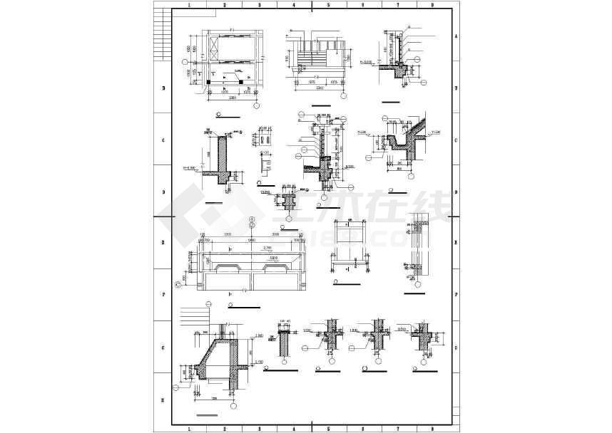 某地三层联排别墅建筑施工图-图3