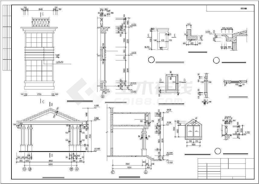 比较实用的别墅建筑施工图-图1