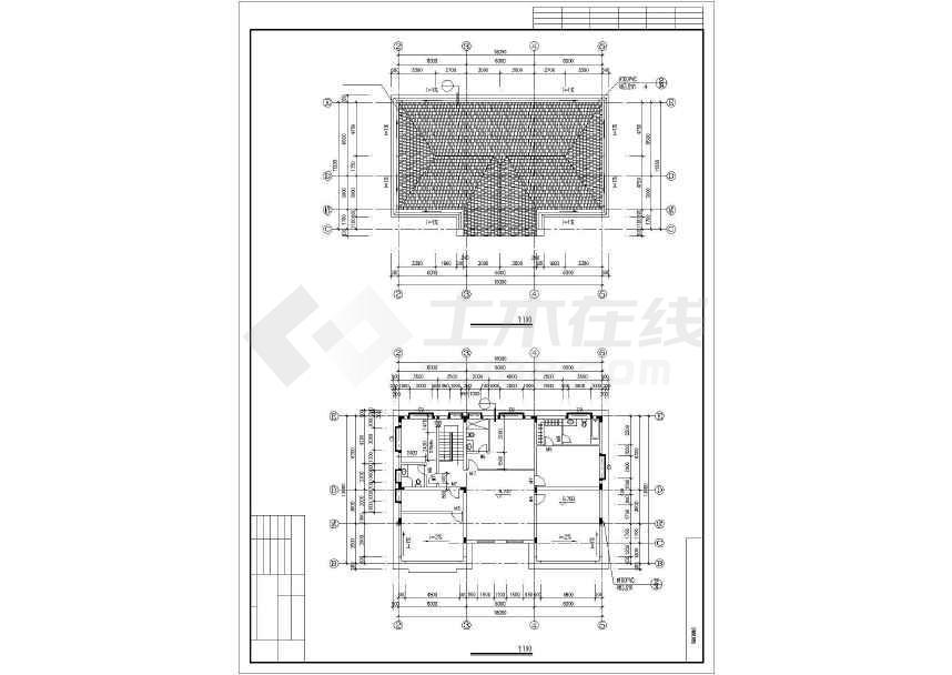 比较实用的别墅建筑施工图-图3