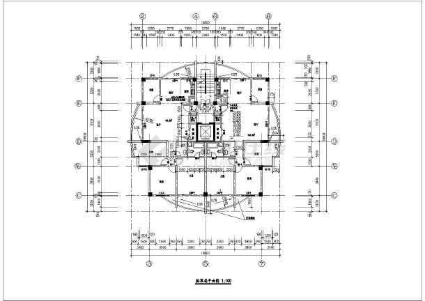 某地高层住宅楼建筑设计cad施工图-图1