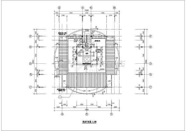 某地高层住宅楼建筑设计cad施工图-图2