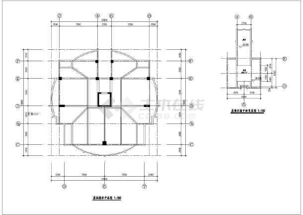 某地高层住宅楼建筑设计cad施工图-图3