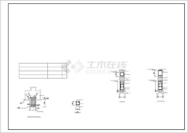 某地框架式商住楼建筑结构CAD图-图1