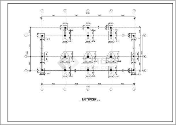 某地框架式商住楼建筑结构CAD图-图2