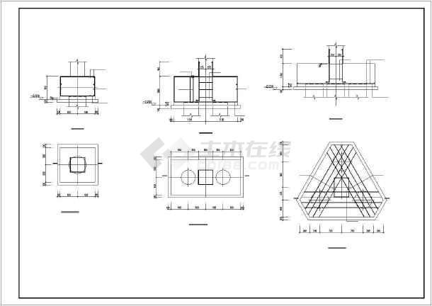 某地框架式商住楼建筑结构CAD图-图3