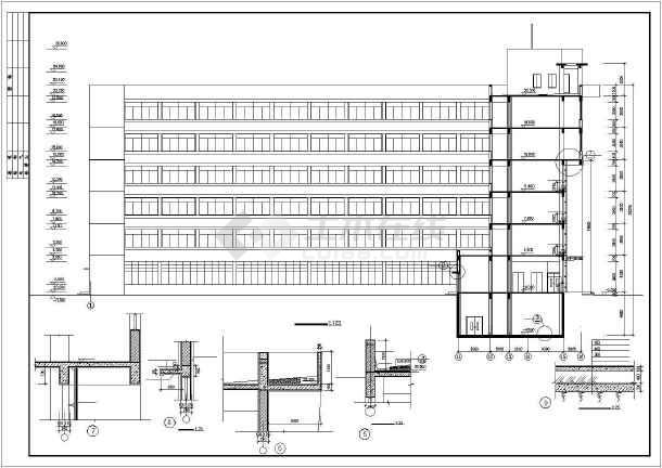某地框剪商务楼建筑结构CAD图纸-图2