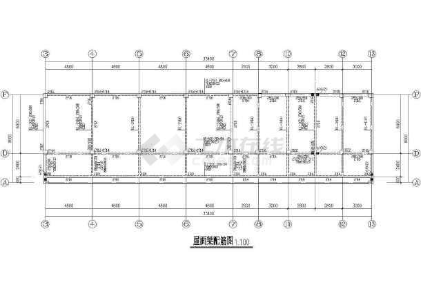 某地框架幼儿园建筑结构CAD图纸-图1