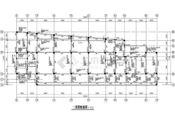 某地框架幼儿园建筑结构CAD图纸-图2